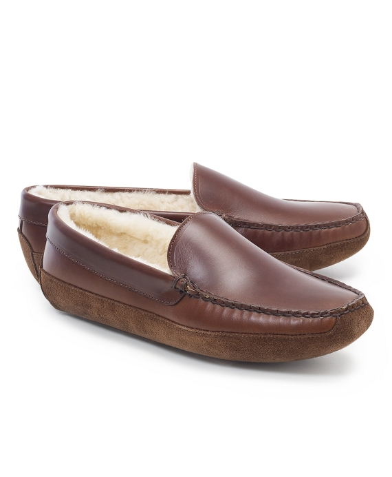 Shearling Slippers Brown