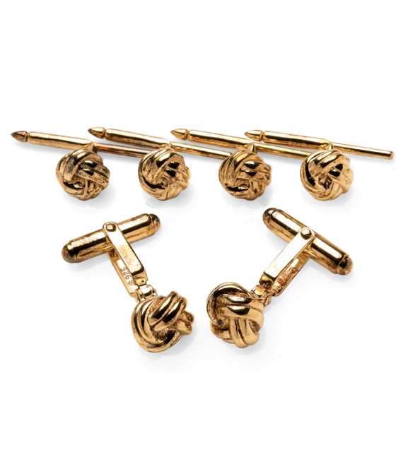 Knot Stud Set Gold
