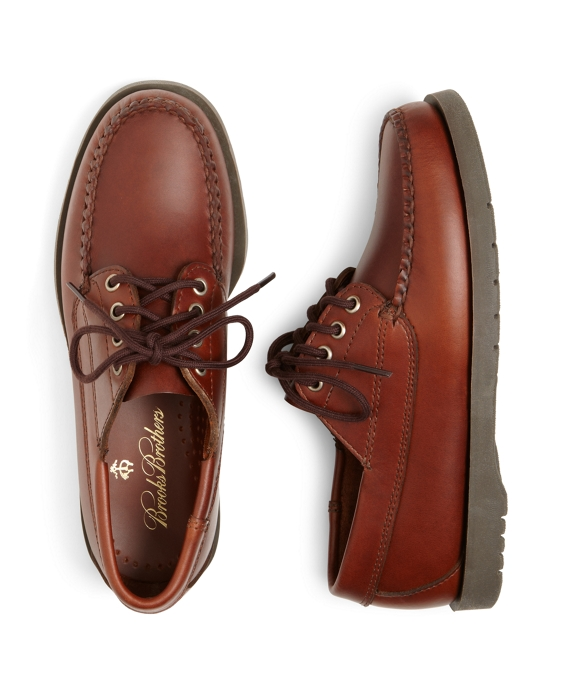 Boys Lace-Up Moccasin Shoes Brown