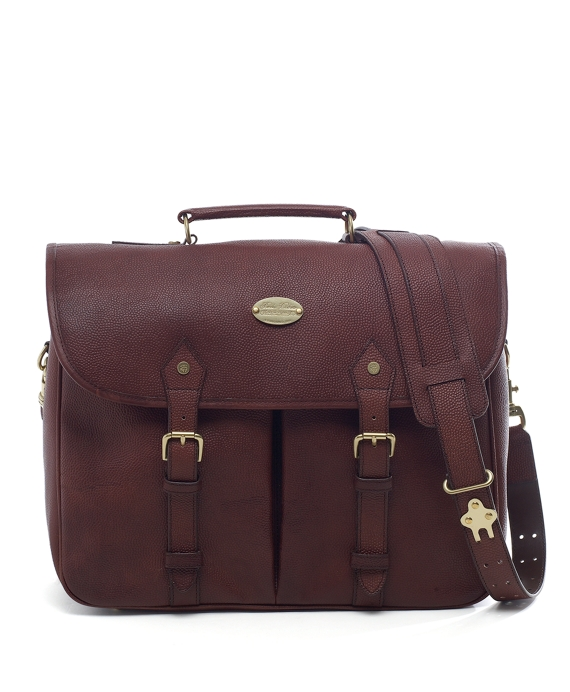 Football Leather Briefcase Cognac
