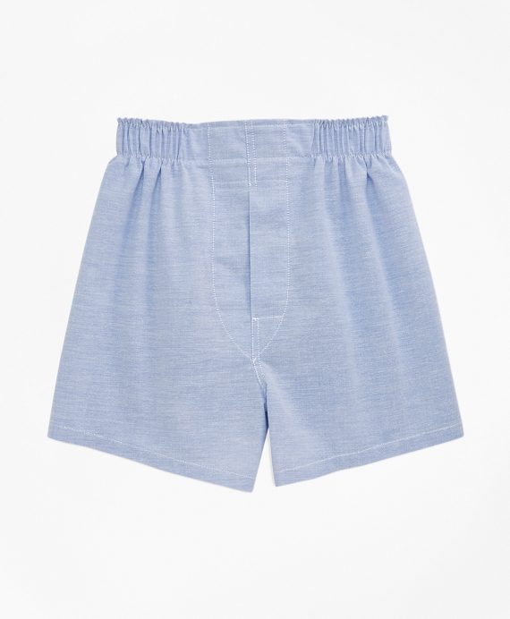 Boys Oxford Full Cut Boxers Blue