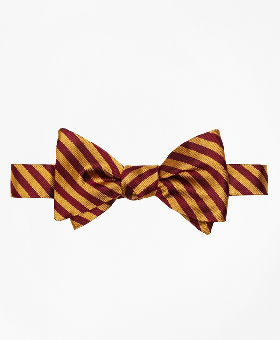 BB#5 Rep Bow Tie Gold-Burgundy