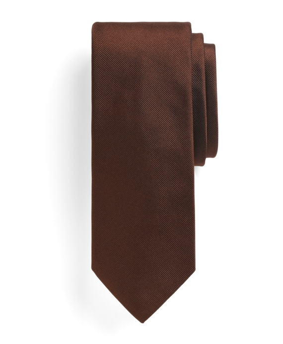 Solid Slim Tie Brown