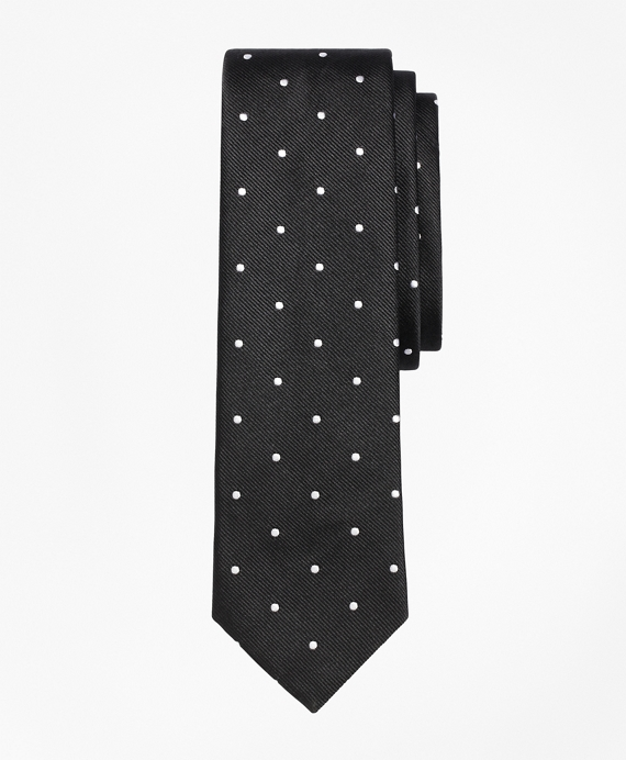 Dot Slim Tie Black-White