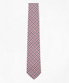 Black Fleece Houndstooth Silk Tie