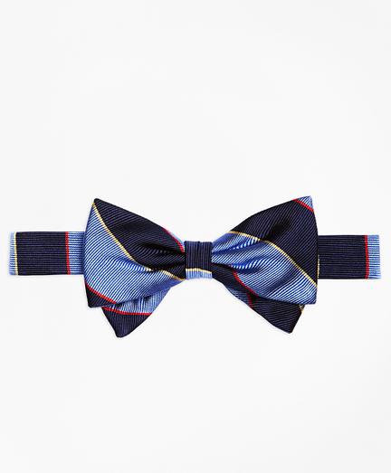 Boys Argyle Sutherland Stripe Pre-Tied Bow Tie