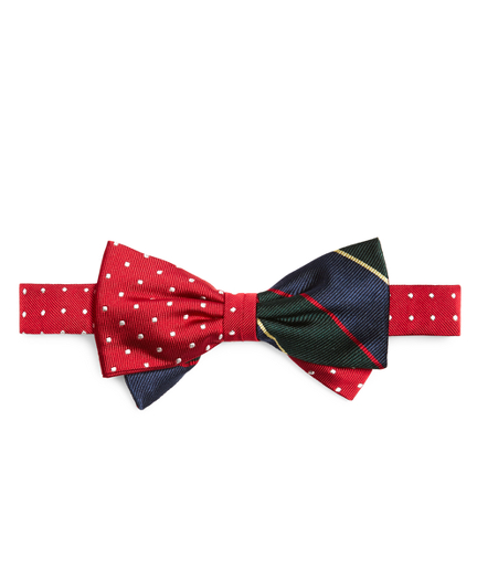 Boys Argyle Sutherland And Dots Pre-Tied Bow Tie