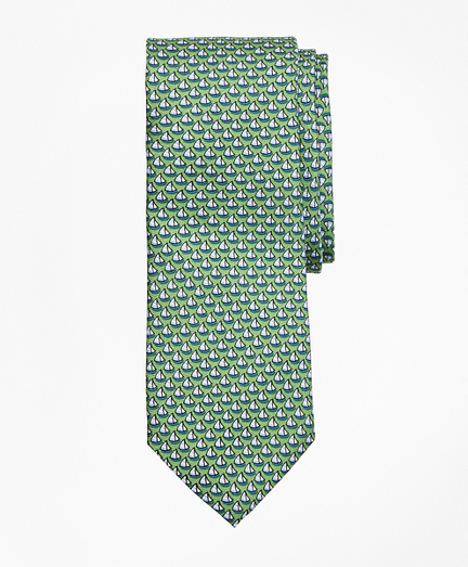 Boys Sailboat Print Tie