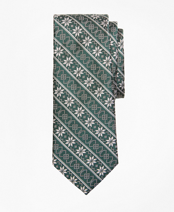 Boys Snowflake Print Tie
