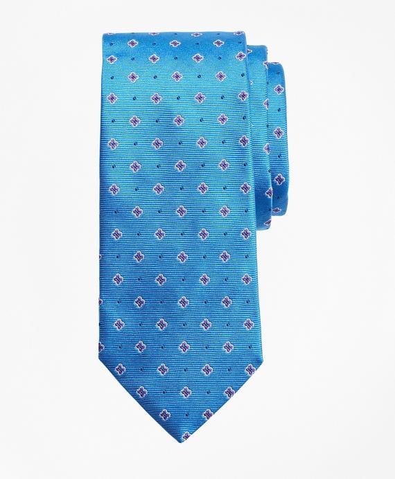Boys Flower Print Tie Blue