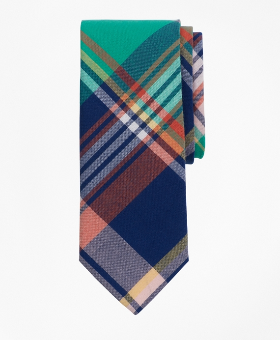 Boys Madras Print Tie Multi