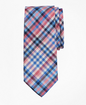 Boys Multi Plaid Tie