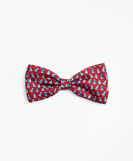Boys Winter Hat Pre-Tied Bow Tie