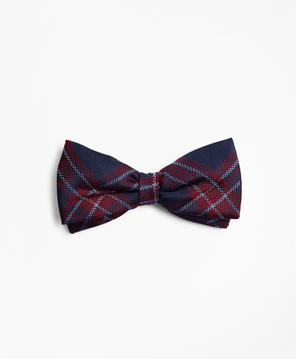 Boys Plaid Pre-Tied Bow Tie