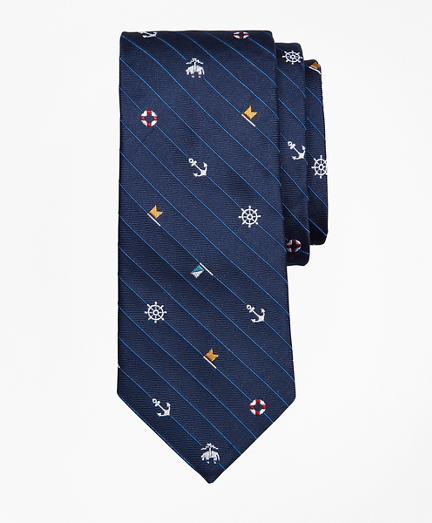 Boys Tossed Nautical Print Tie