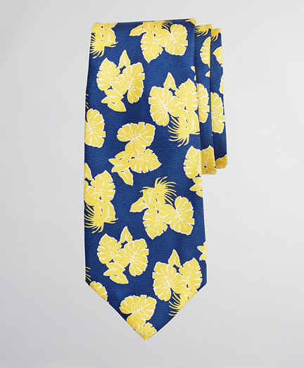 Boys Palm Leaf Print Tie
