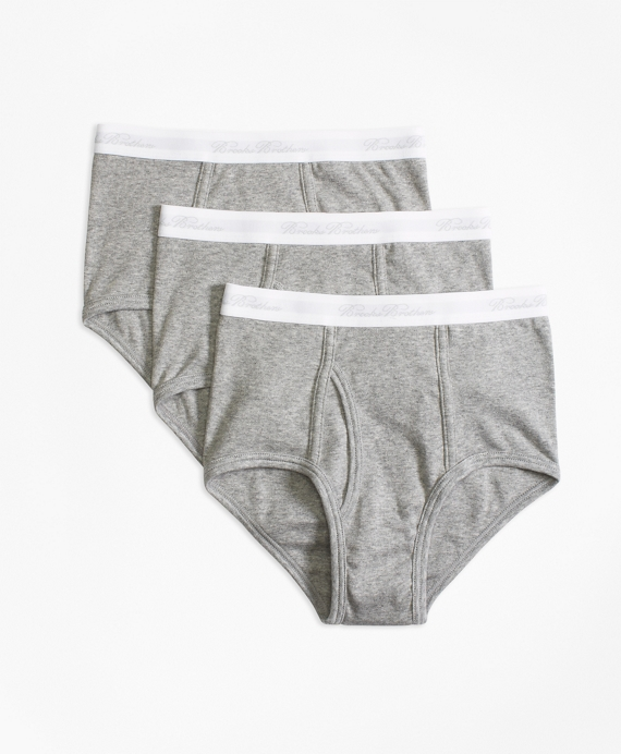 Boys Three-Pack Cotton Briefs Grey