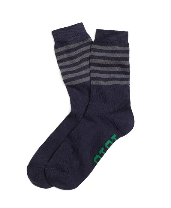 1818 Stripe Print Socks Navy