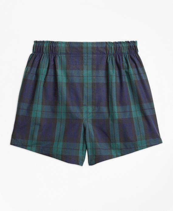 Boys Blackwatch Boxers Navy-Green