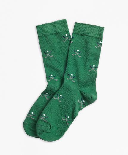 Golf Embroidered Socks