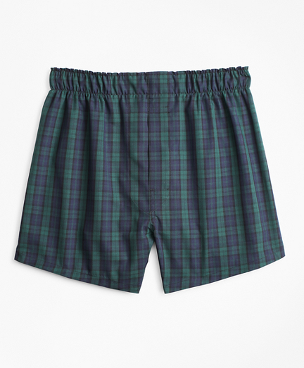 Boys Black Watch Plaid Boxers