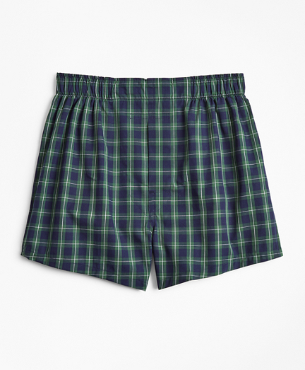 Boys Holiday Plaid Boxers