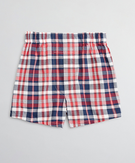 Boys Madras Plaid Boxers