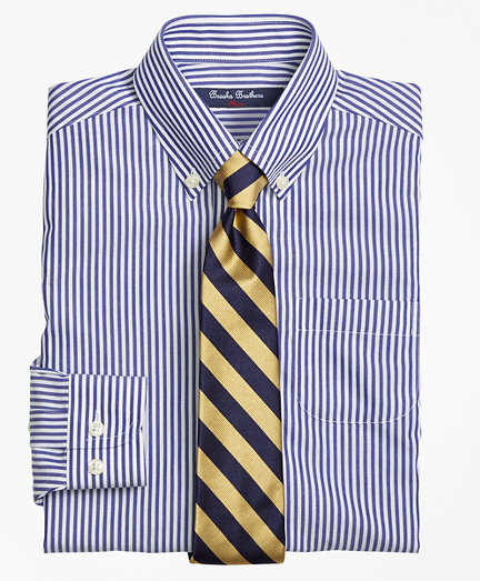 Boys Non-Iron Supima® Cotton Broadcloth Bengal Stripe Dress Shirt