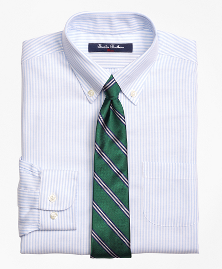 Boys Non-Iron Supima® Cotton Oxford Stripe Dress Shirt