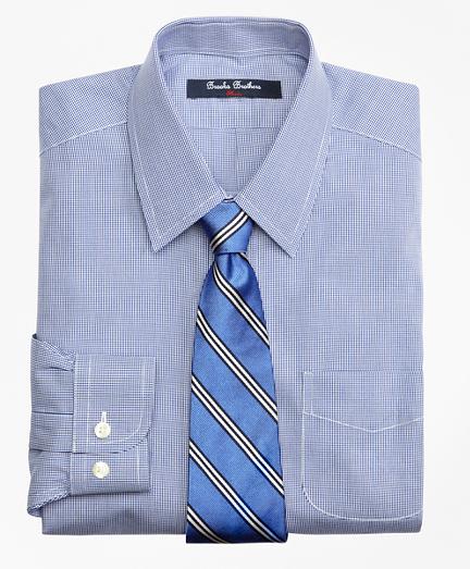 Boys Non-Iron Supima® Cotton Broadcloth Houndstooth Dress Shirt