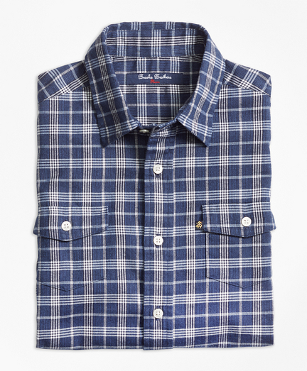Boys Classic Check Flannel Sport Shirt