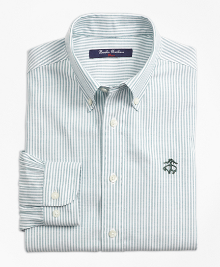 Boys Non-Iron Club Stripe Sport Shirt