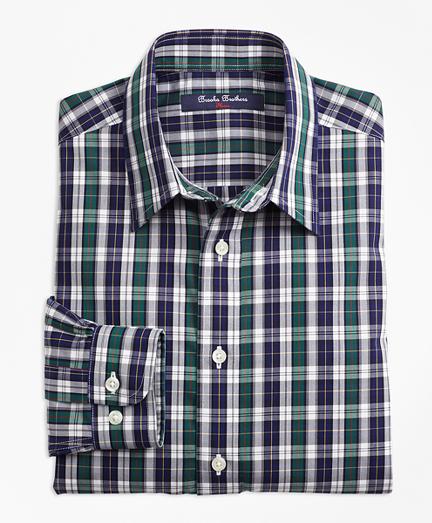 Boys Non-Iron Tattersall Sport Shirt