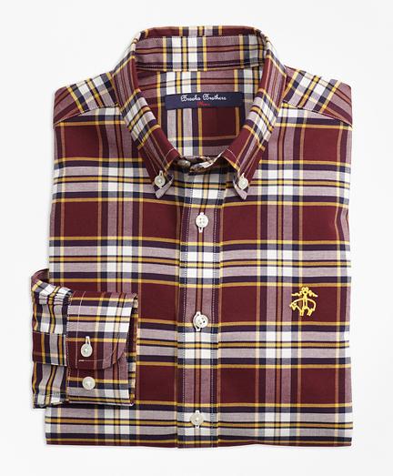 Boys Non-Iron Supima® Cotton Large Plaid Sport Shirt