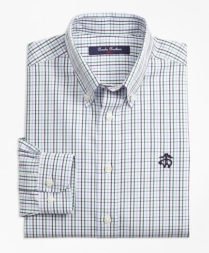 Boys Non-Iron Windowpane Tattersall Sport Shirt