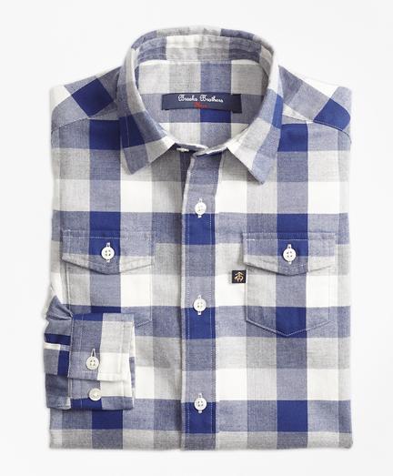 Boys Multiplaid Flannel Sport Shirt