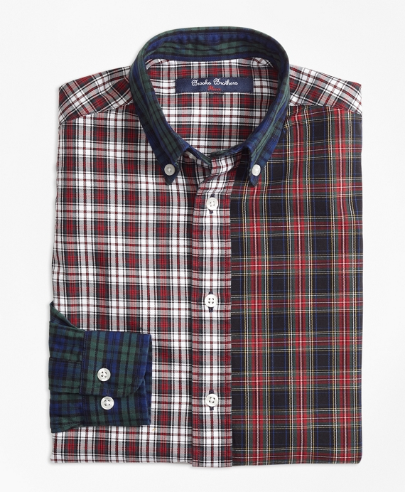 Boys Oxford Plaid Fun Shirt Multi
