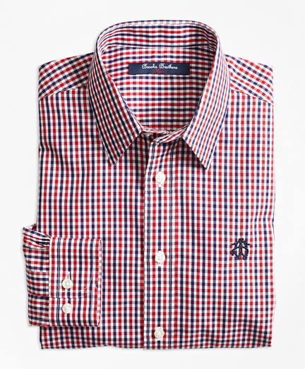 Boys Non-Iron Mini Tattersall Sport Shirt