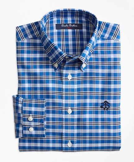 Boys Non-Iron Supima® Cotton Tattersall Sport Shirt