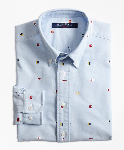 Boys Oxford Nautical Sport Shirt