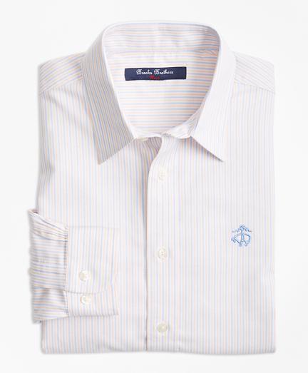 Boys Non-Iron Supima® Cotton Oxford Alternating Stripe Sport Shirt