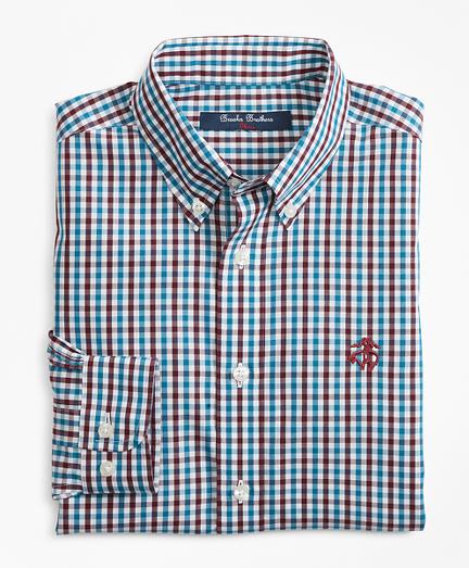 Boys Non-Iron Multi-Color Gingham Sport Shirt