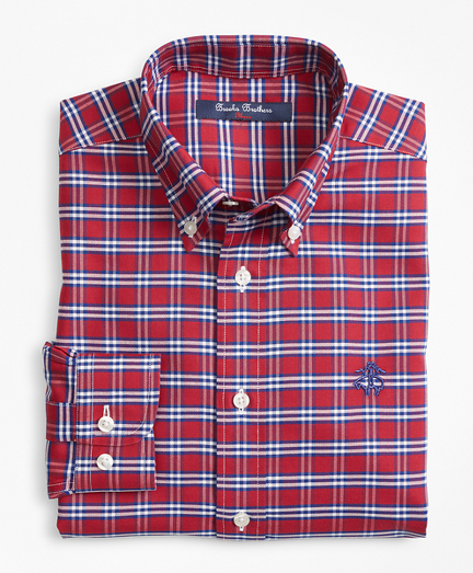 Boys Non-Iron Supima® Cotton Check Sport Shirt