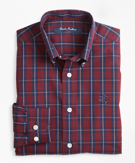 Boys Non-Iron Check Sport Shirt