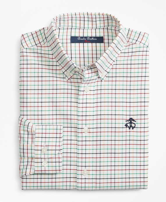 Boys Non-Iron Supima® Cotton Check Sport Shirt Multi