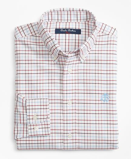 Boys Non-Iron Supima® Cotton Check Sport Shirt