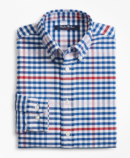 Boys Cotton Oxford Multi-Color Gingham Sport Shirt