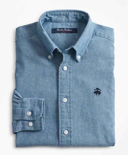 Boys Chambray Sport Shirt