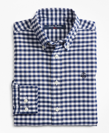 Boys Non-Iron Supima® Cotton Gingham Sport Shirt
