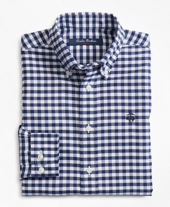 Boys Non-Iron Supima® Cotton Gingham Sport Shirt